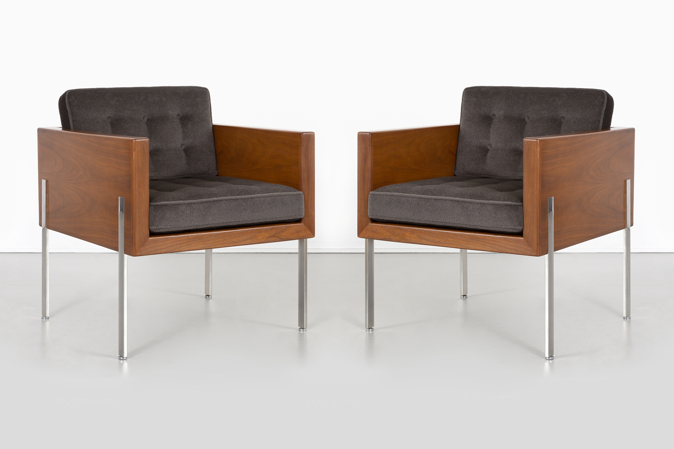 Cube Chairs Pair Of Harvey Probber Architectural Series Cube Chairs