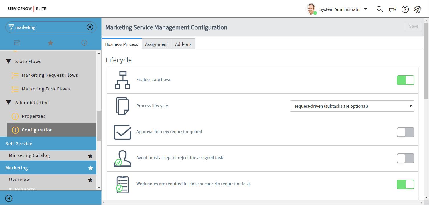 Marketing Service Management — ServiceNow Elite