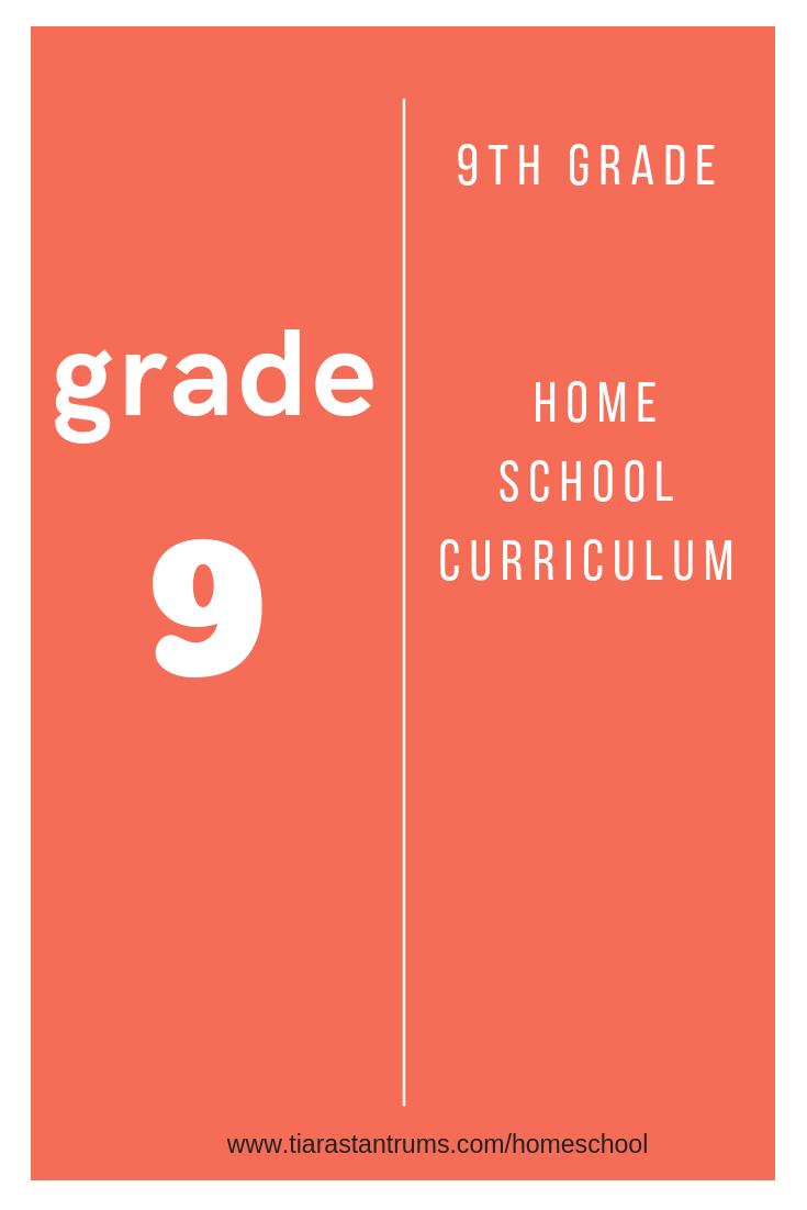 hight resolution of 9th Grade Homeschool Curriculum — Tiaras \u0026 Tantrums