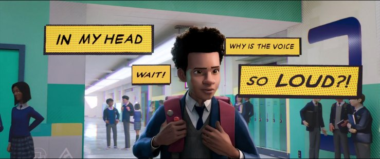 Image result for spider verse voice in head