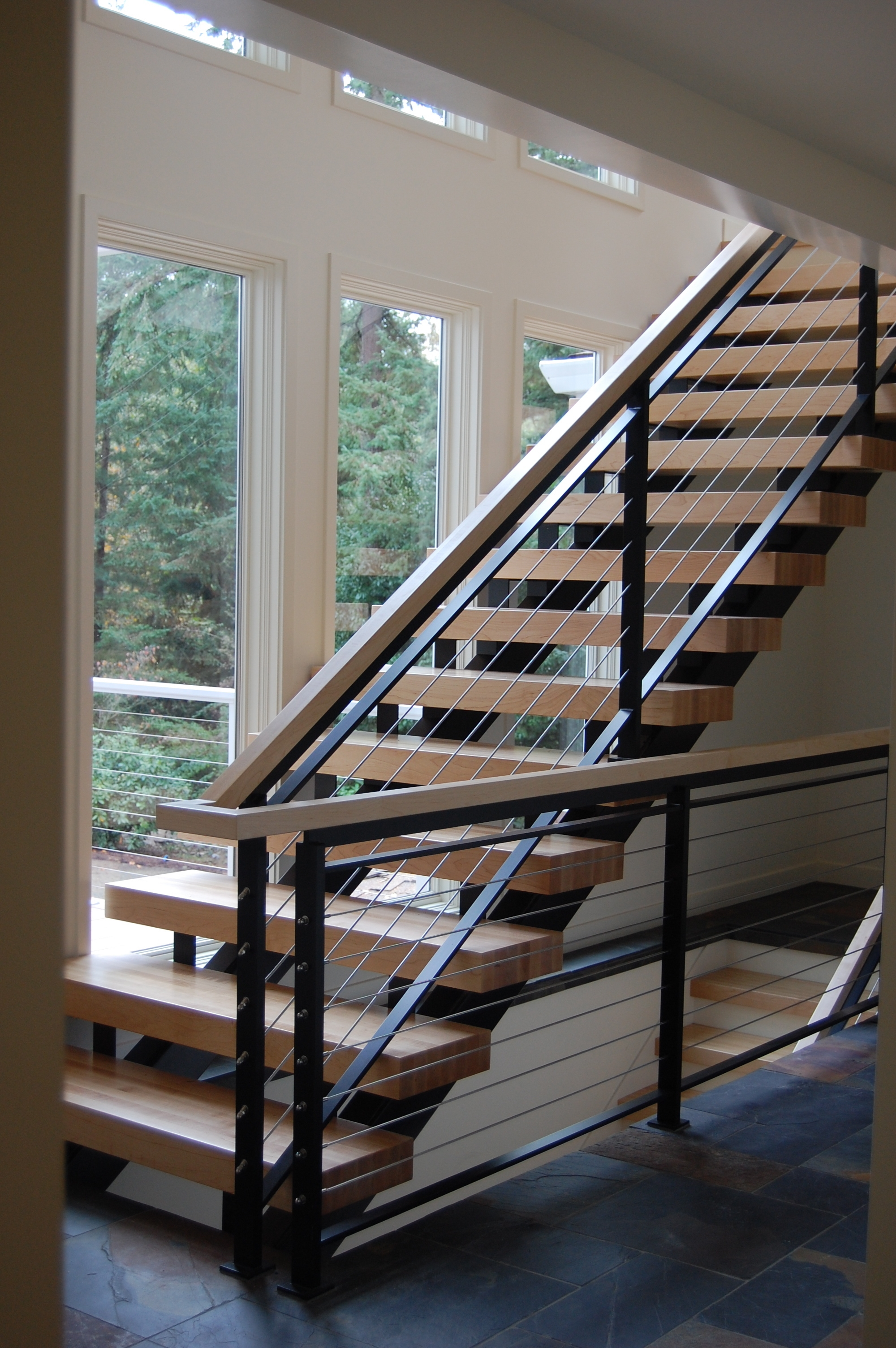 Stairs — Formed Objects   Flat Handrail For Stairs   Code Compliant   Stainless Steel Flat Bar   Type 2   Top   Flat Iron