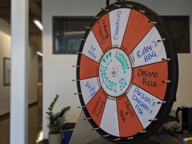 Our office Wheel of Destiny is the most actionable of data. The results tell you where to go to lunch. No questions asked.
