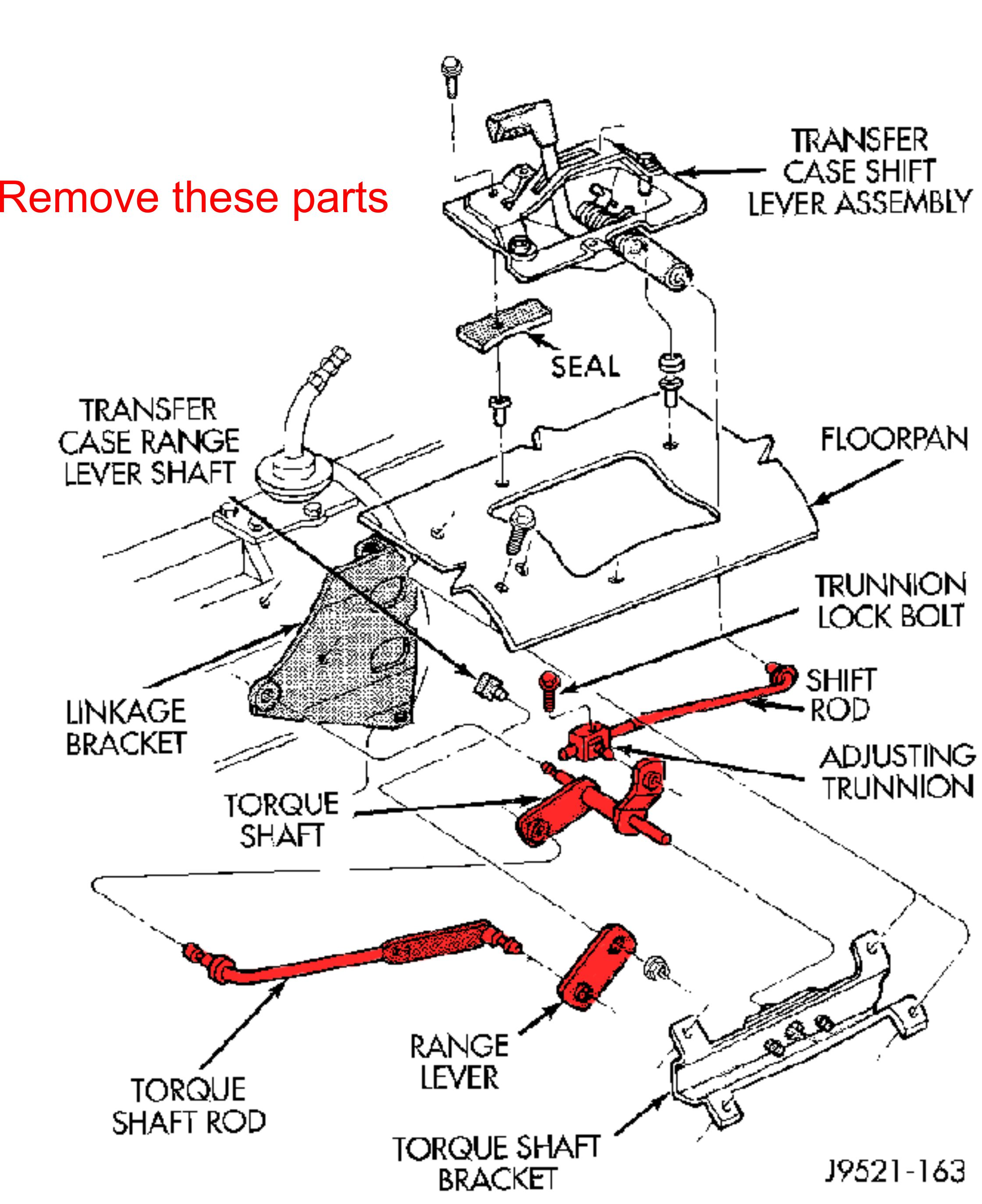 hight resolution of shift kit instructions part removal jpg