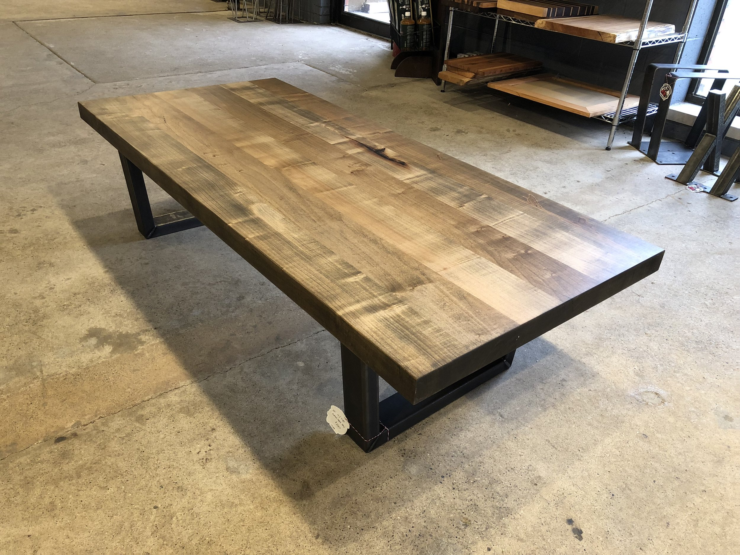 silver maple coffee table top tree purposed detroit michigan live edge slabs reclaimed wood