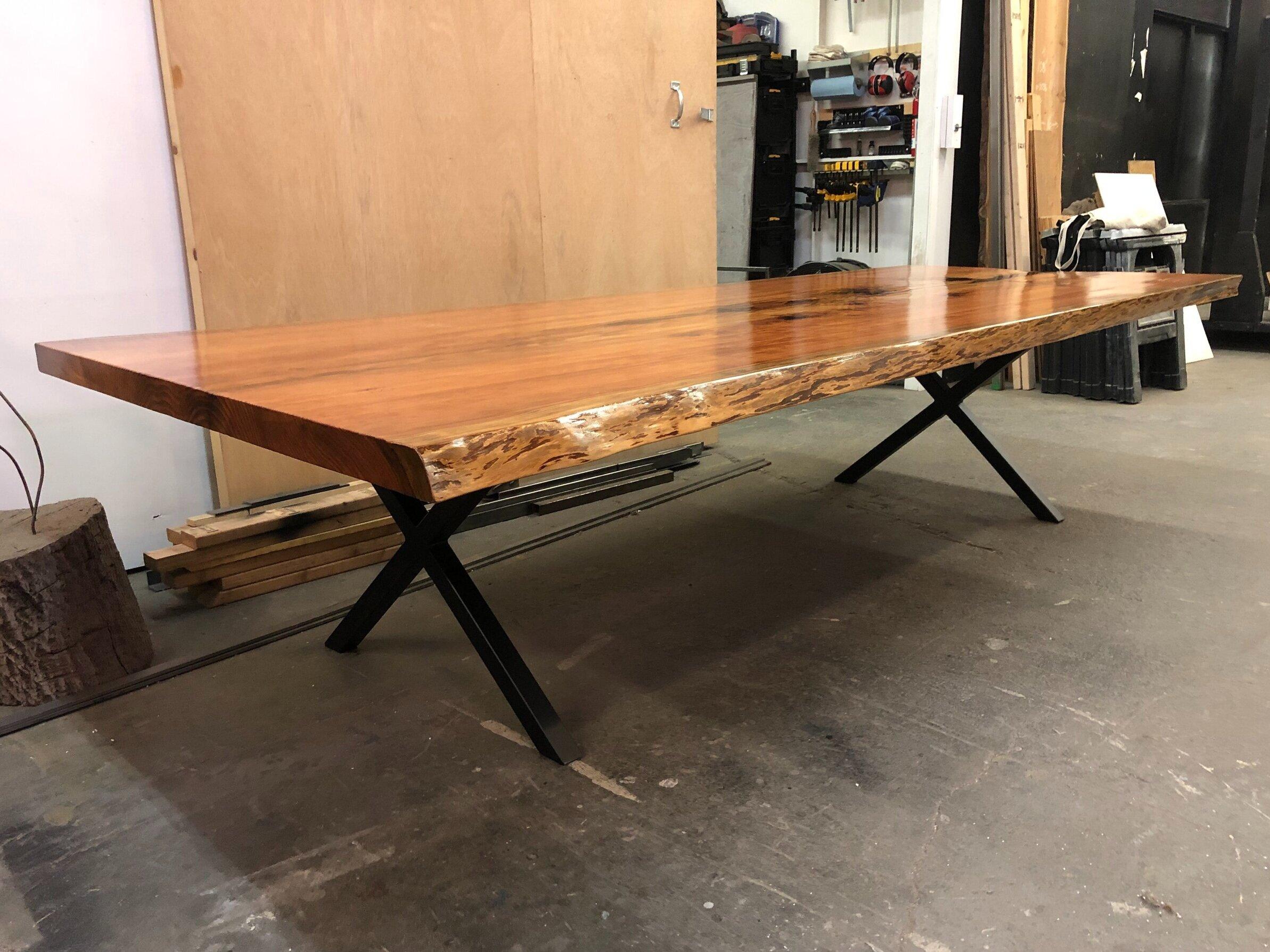 live edge wood slab tables