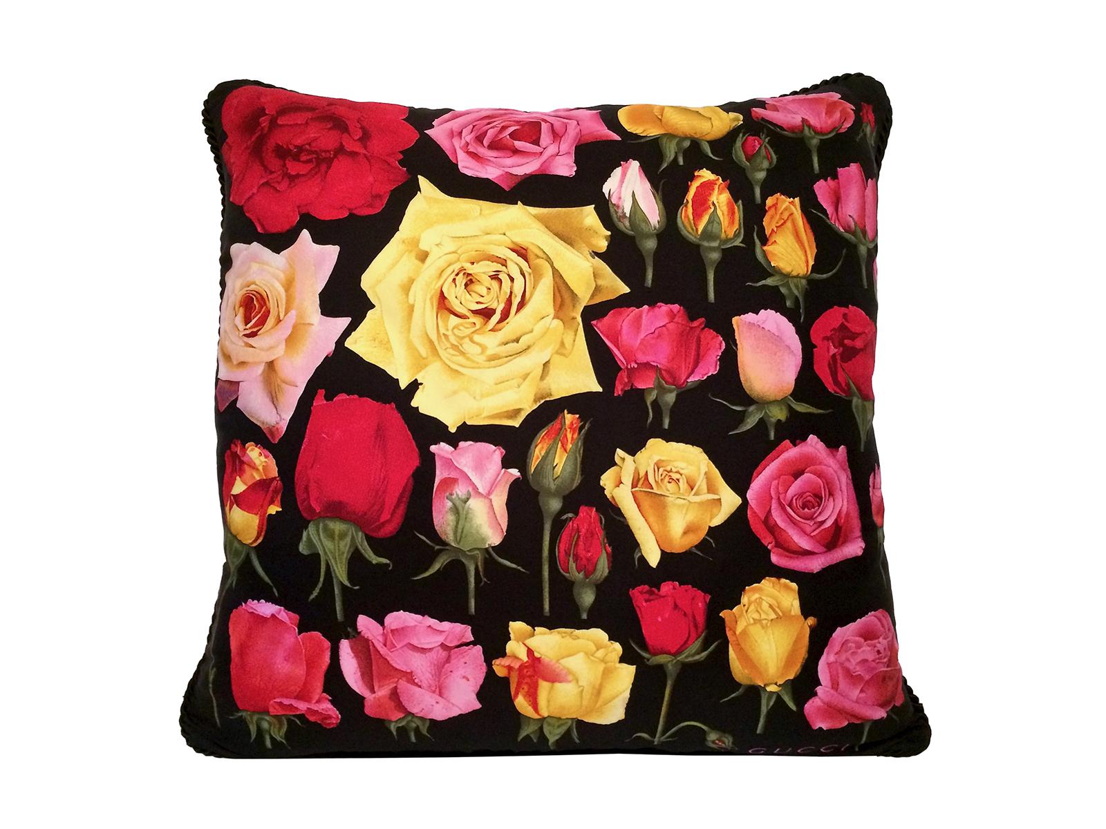 gucci roses pillow multi benton art design
