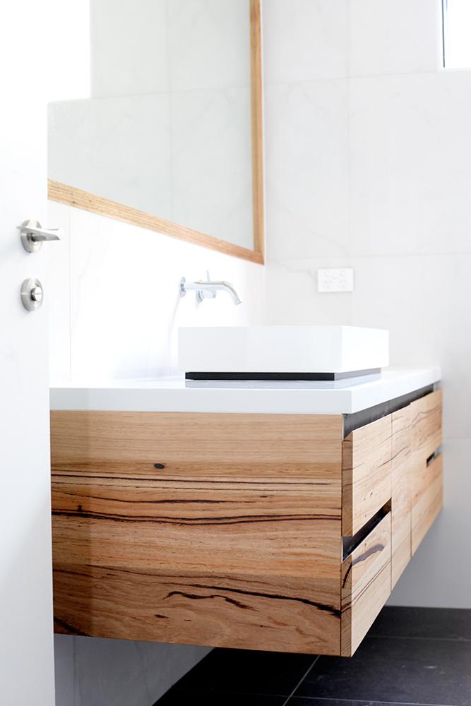 Solid Timber Wooden Bathroom Vanities Modern Timber Bathroom Vanity