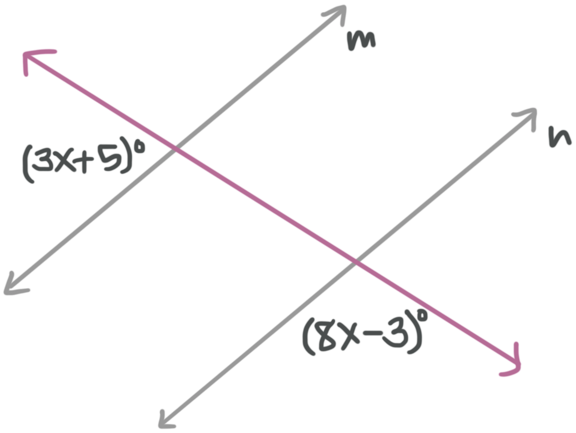Transversals, and their special angle pairs — Krista King