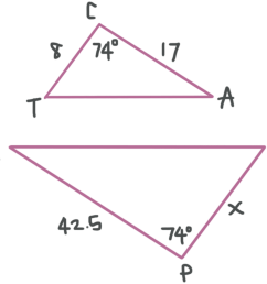 Similar triangles have corresponding sides and angles — Krista King Math    Online math tutor [ 899 x 1000 Pixel ]