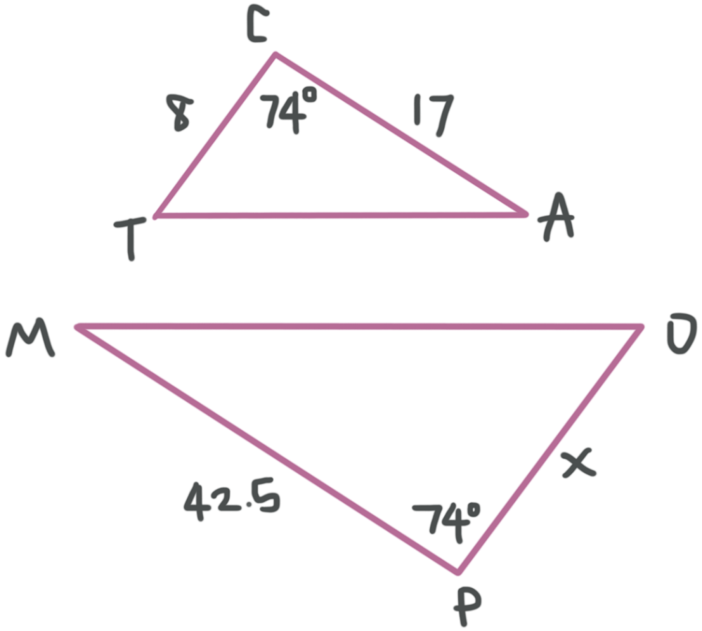 medium resolution of Similar triangles have corresponding sides and angles — Krista King Math    Online math tutor
