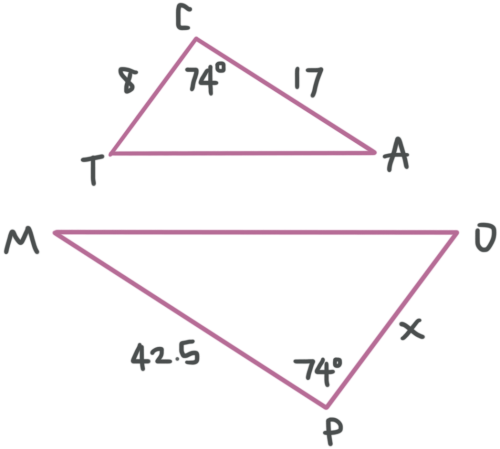 small resolution of Similar triangles have corresponding sides and angles — Krista King Math    Online math tutor