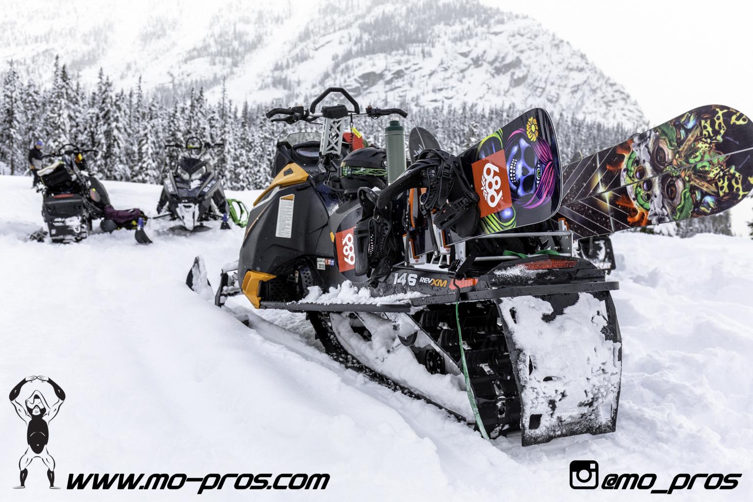 mo pros ski doo snowmobile snowboard