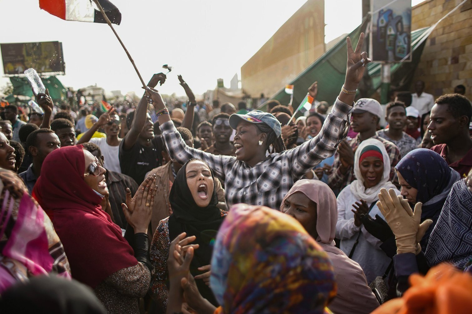 Womens rights activists celebrate in Khartoum, September 2020. Ala Kheir/DPA/PA Images.