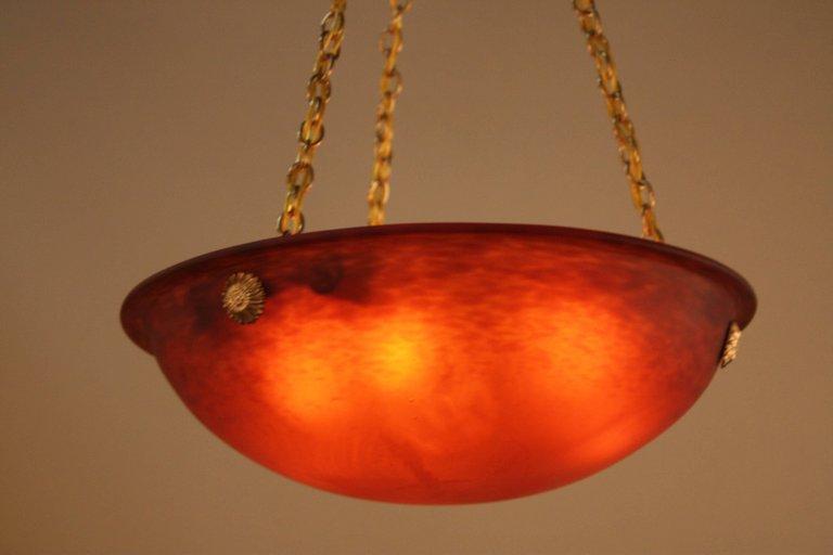french 1920s art glass chandelier lu91369827083 artisan lamp