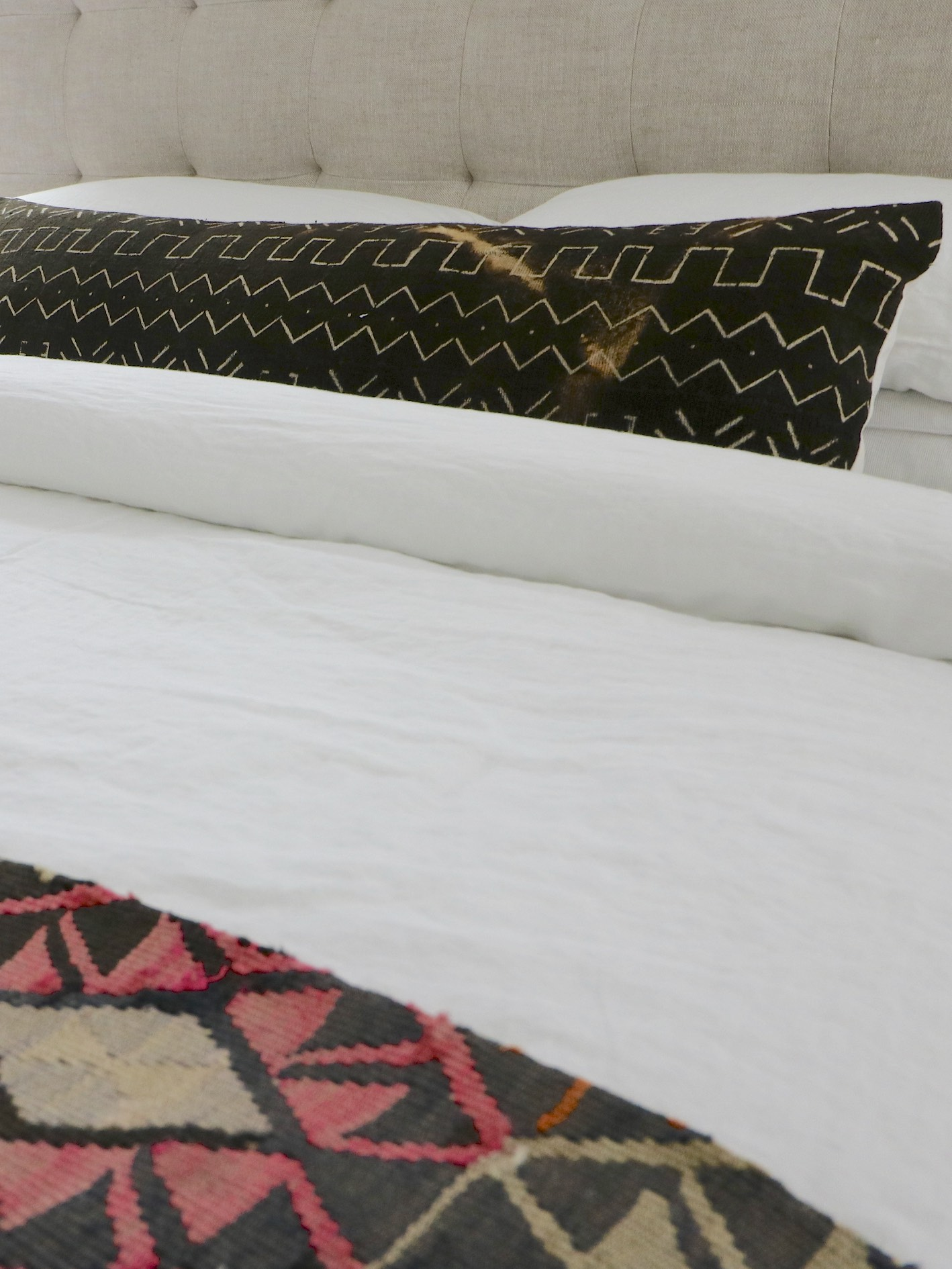 vintage black mud cloth body pillow blue salvage vintage rugs and handmade bohemian home decor