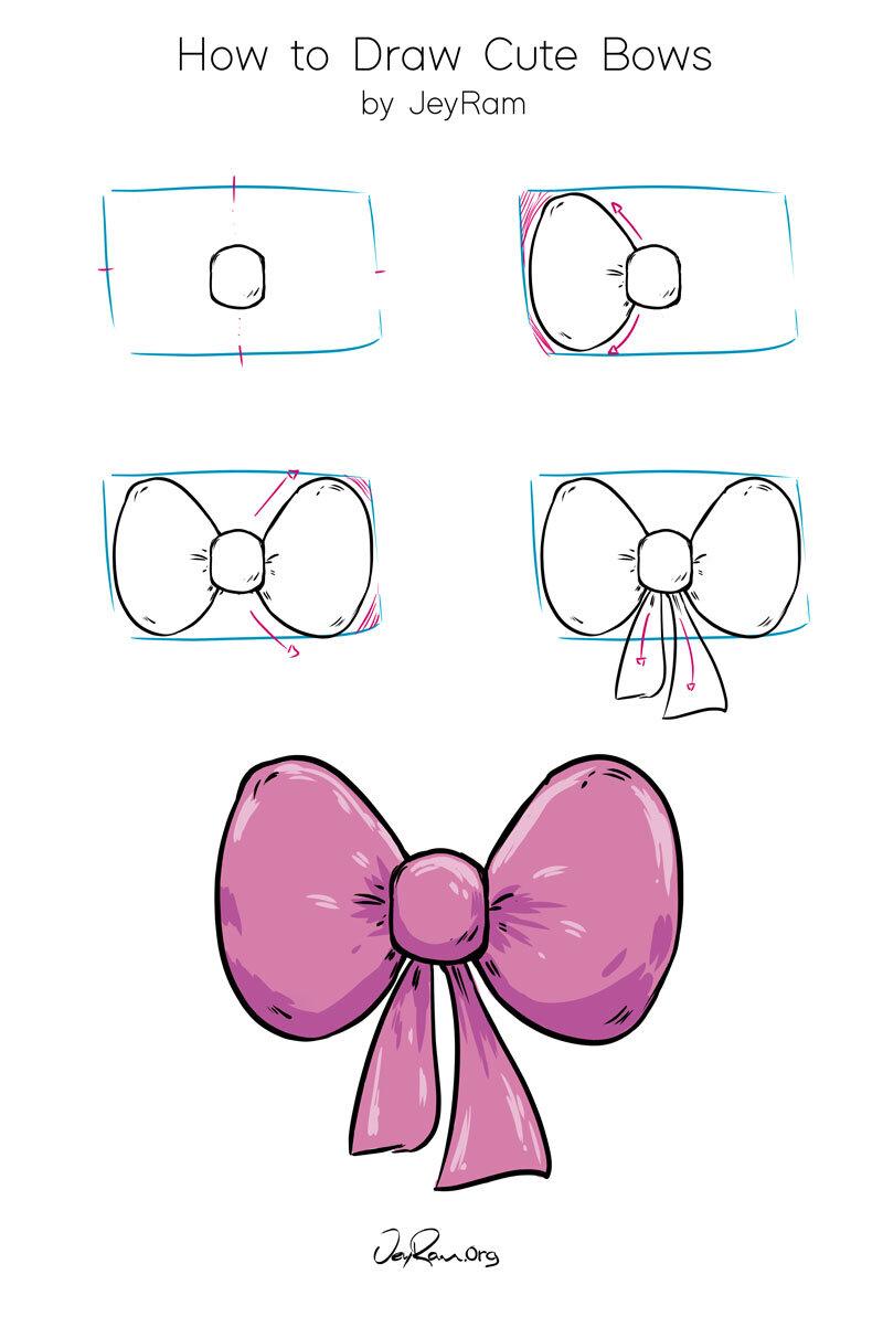 Hair Bow Drawing : drawing, JeyRam