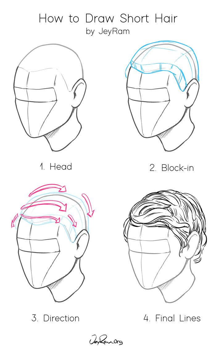 How to Draw Short Hair - JeyRam Art