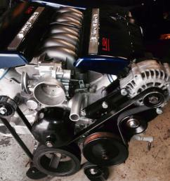 a truck water pump or if your going fbody spacing use fbody water pump or freestyle just use corresponding tensioner or the rebel and a fbody tensioner  [ 960 x 906 Pixel ]