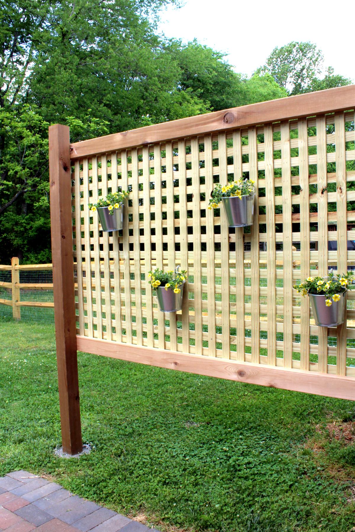 wood patio privacy screen diy tag