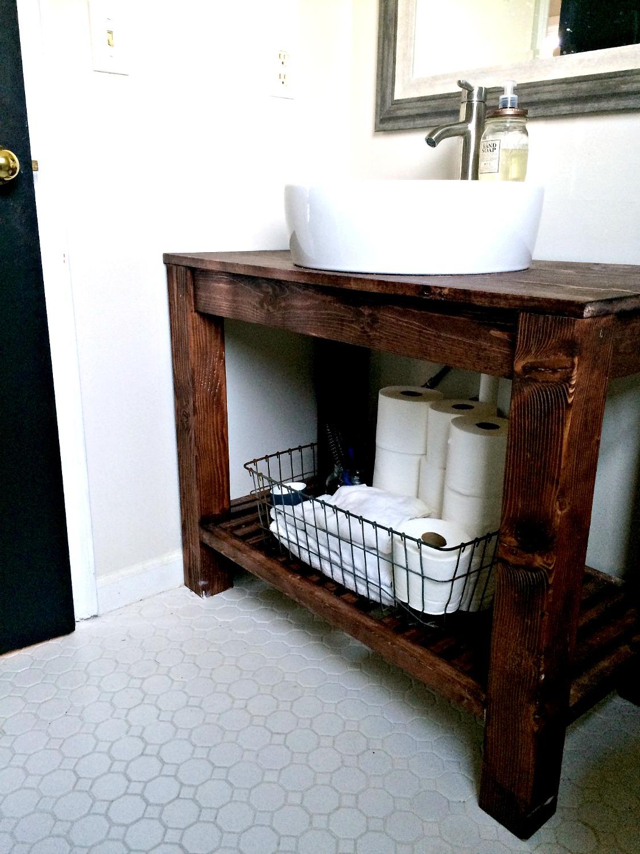 diy industrial farmhouse bathroom