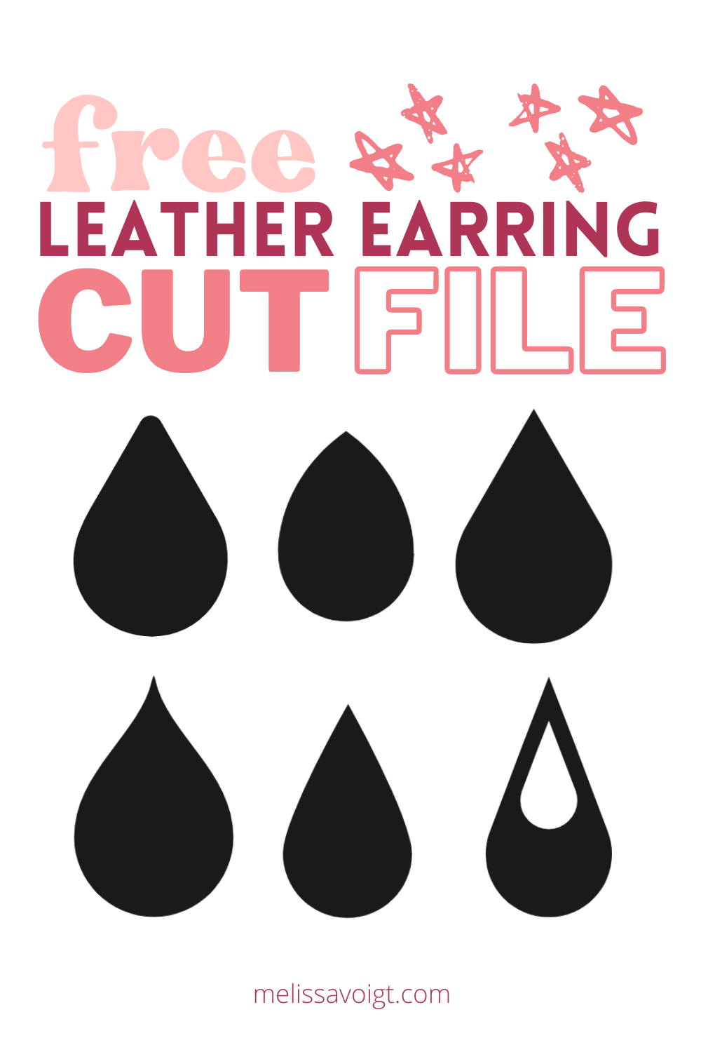 Faux Leather Earring Template : leather, earring, template, CRICUT, TEARDROP, EARRING, TEMPLATES, Melissa, Voigt
