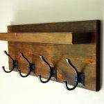 Coat Rack Wood Coat Rack With Shelf Entryway Organizer Bathroom Towel Robe Rack Wall Mounted Coat Rack Penn Rustics