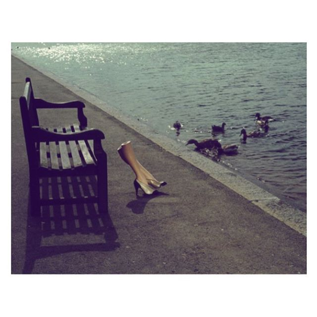 Guy Bourdin, 'Walking Legs' series shot in London, summer 1979, was a surrealist photography project created for Charles Jourdan #londonsummer #guybourdin #walkinglegs #70sfashion #hydepark #charlesjourdan #photography #stilllife #surrealism #contemporaryart #summerinthecity #summermood #cqinspiration