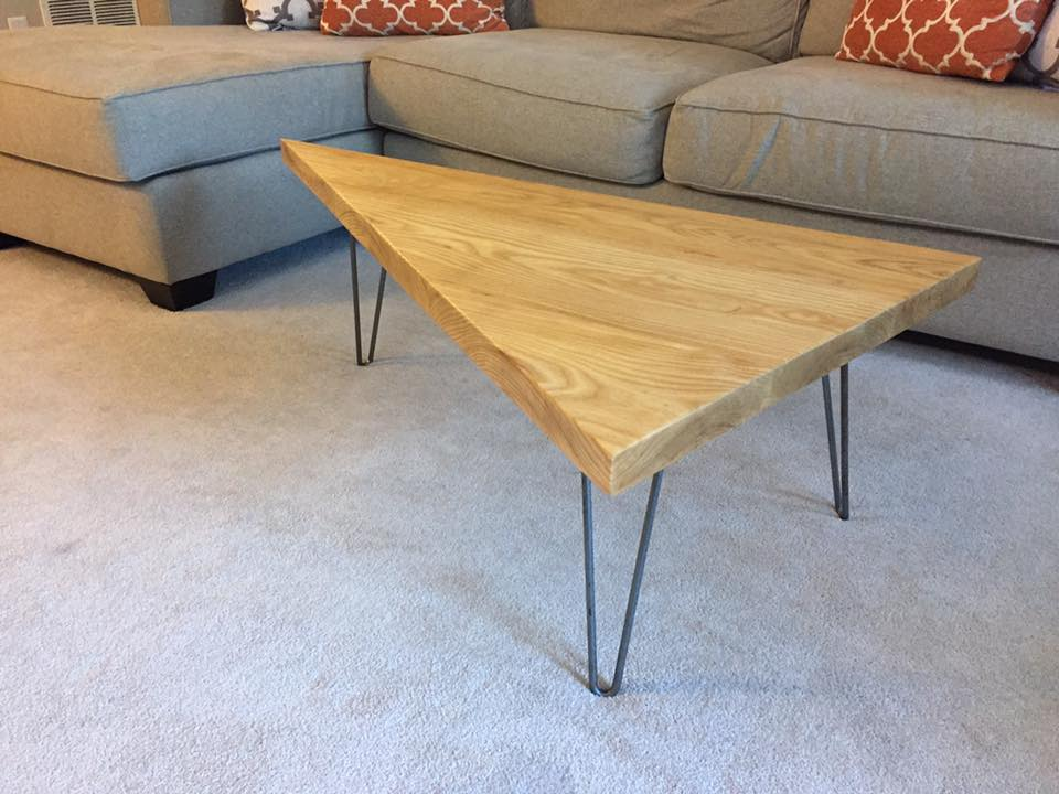 how to build a triangle coffee table