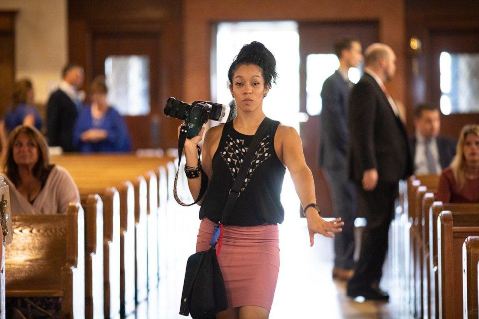 Jane strutting her stuff… in the church!