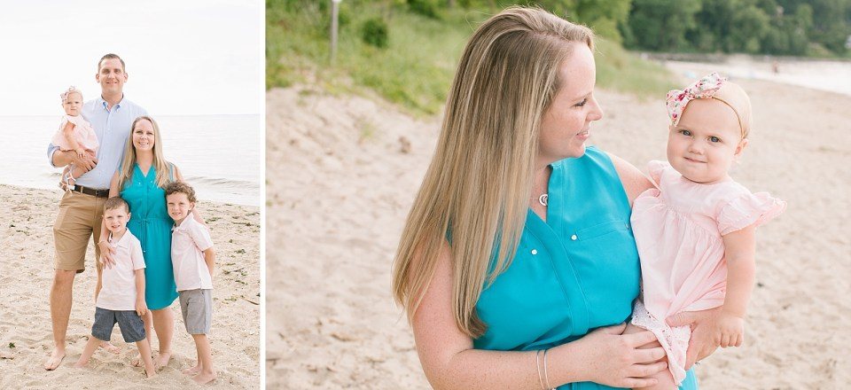 Family beach portrait session with Ashley Mac Photographs in New Jersey