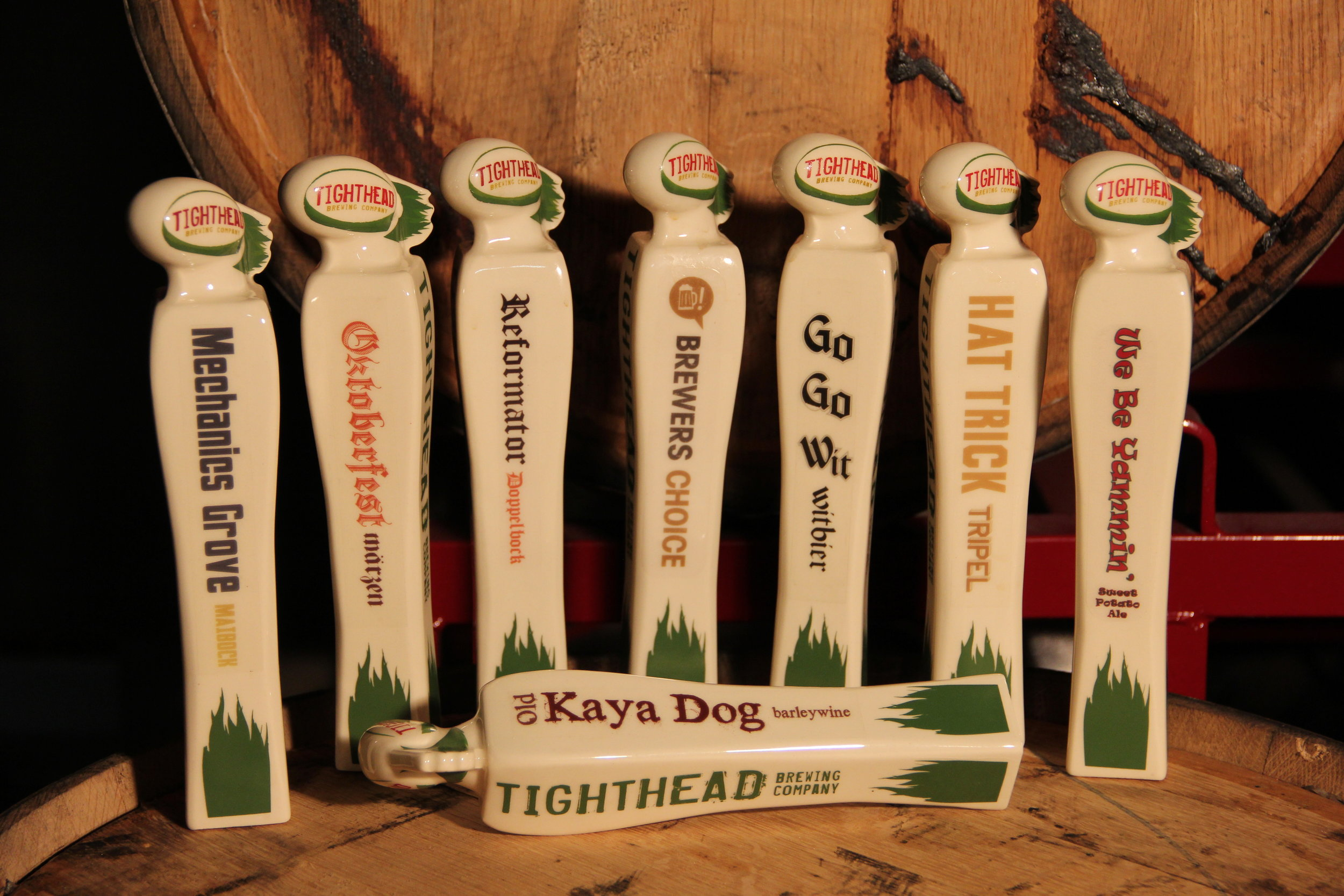 tap handles tighthead brewing