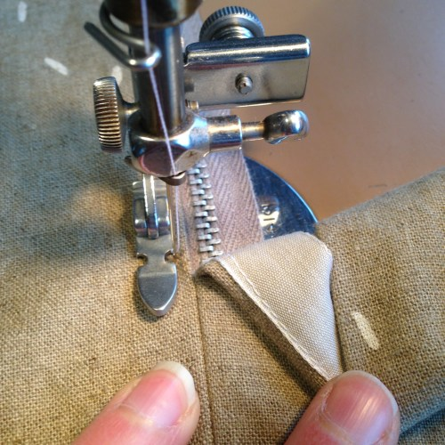 small resolution of in this picture i ve attached a ribbon to my zipper seam allowance to