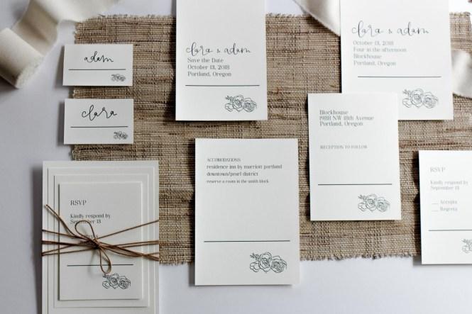 Custom Calligraphy Wedding Invitations In Portland Oregon