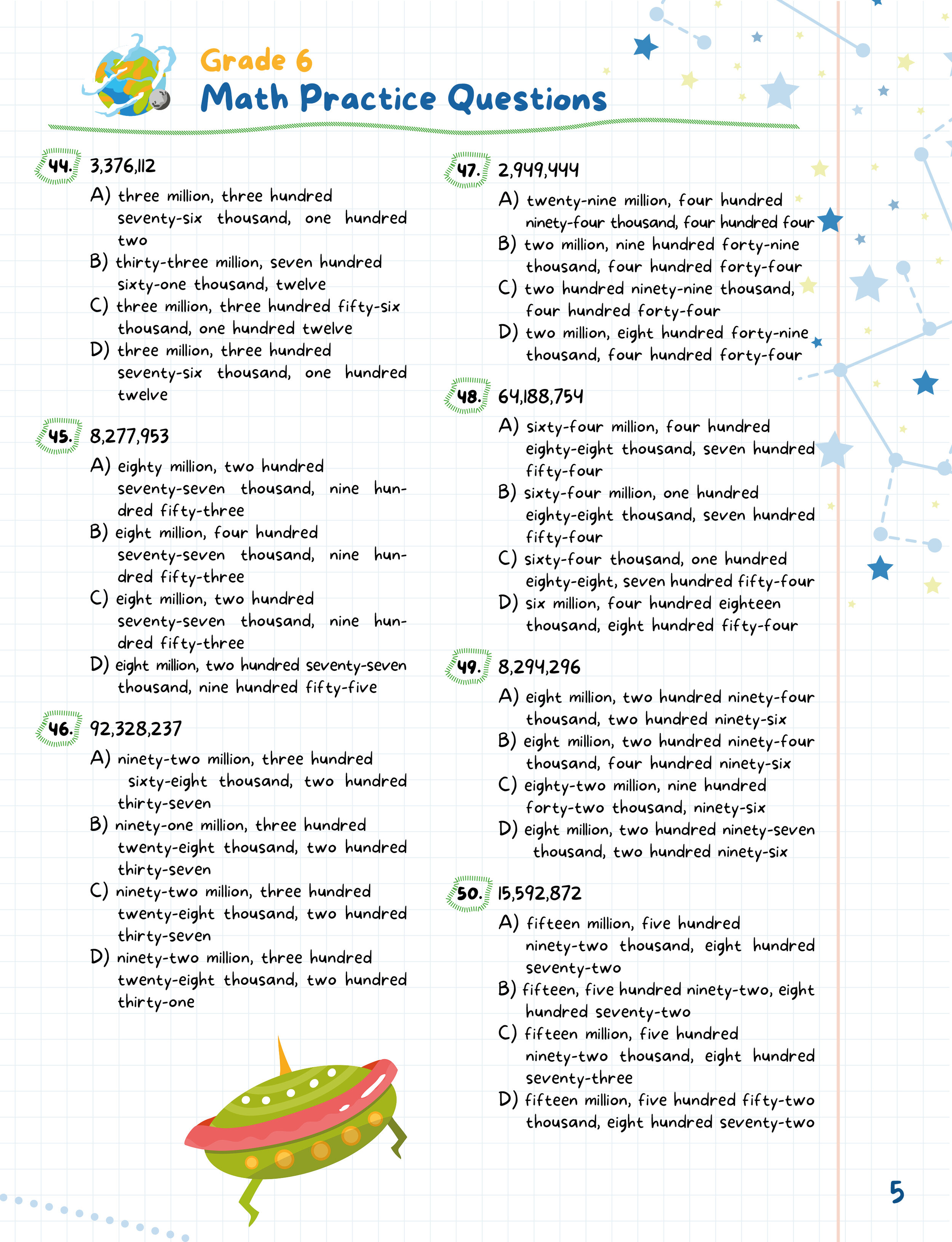 medium resolution of Practice Makes Perfect Worksheets for 6th Graders (210 Math Questions) —  Argo Brothers