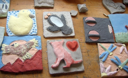 5 kids studio clay tiles austin