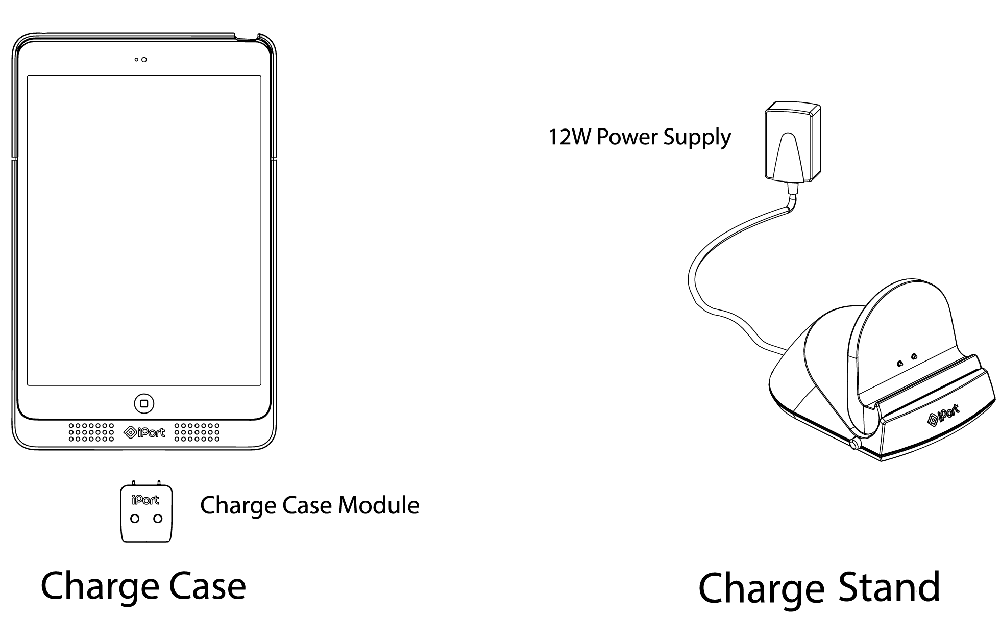Charge Case & Stand Support — IPORT