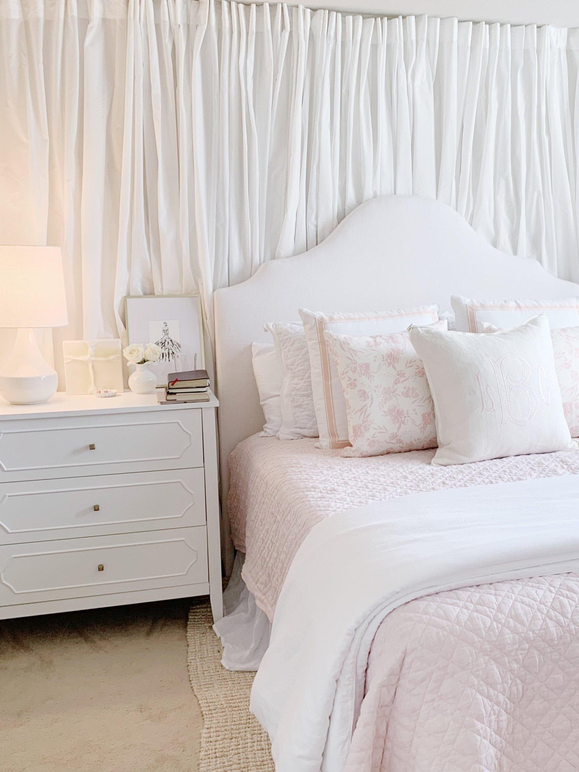 bedroom drapery wall under 200