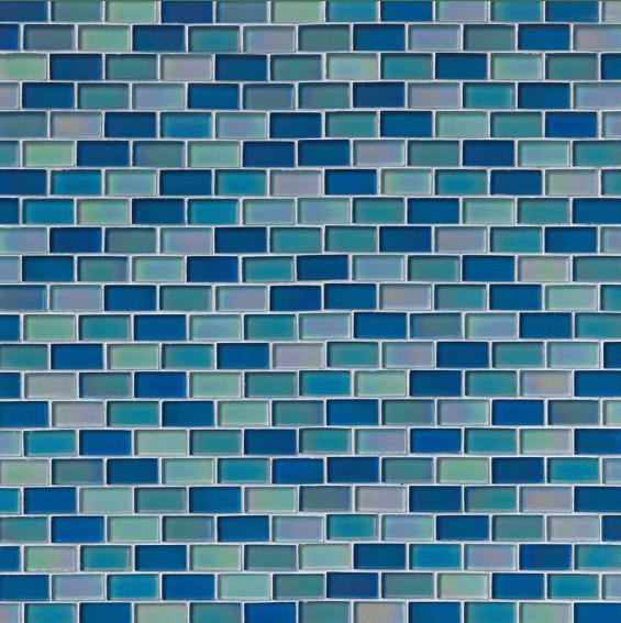 iridescent blue blend 1x2 glass tile 75 cabinets