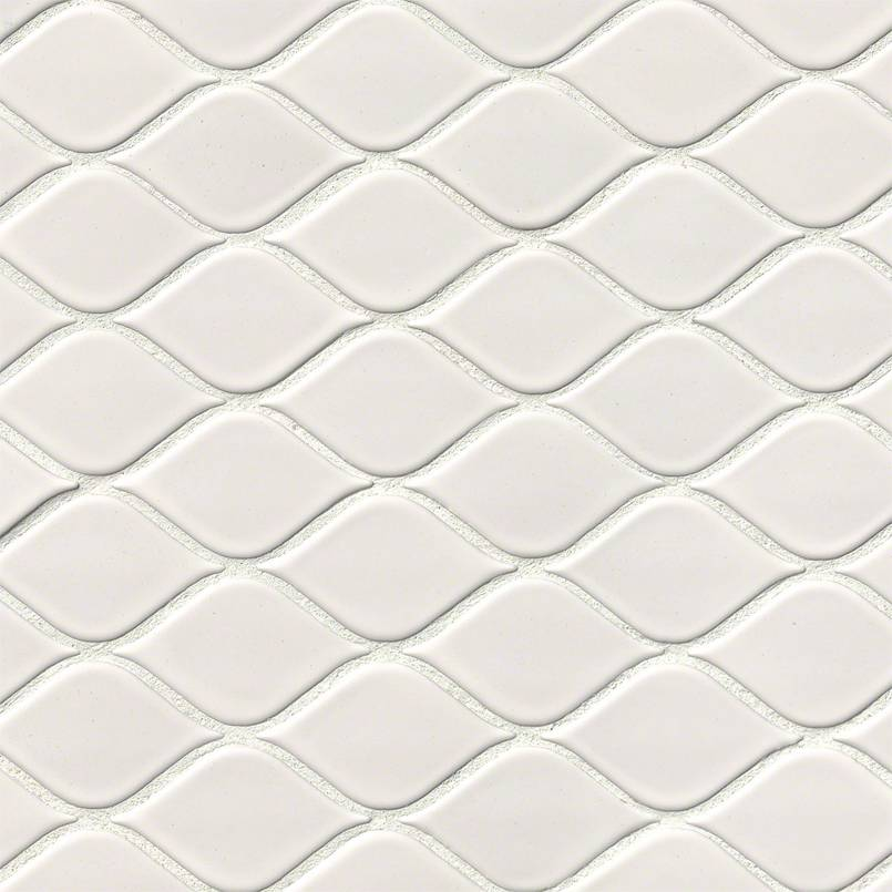 white tear drop glossy mosaic 75 cabinets