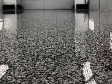 Garage Floor Coating Company Epoxy Flooring Contractors Terrazzo Marble Restoration South Florida Satin Finish Concrete