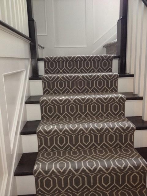 Stair Carpeting — Blog — 844 My Stair | White Stairs With Carpet | Black | Chic | Victorian Staircase Carpet | Hardwood | Pinstripe Grey