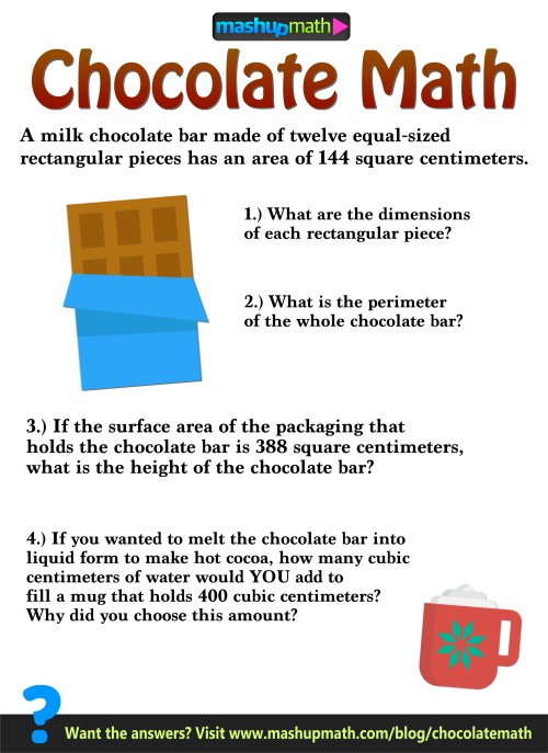 small resolution of 6th Grade Surface Area Activities : Chocolate Math — Mashup Math