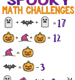 Halloween Math: 13 Days of Spooky Math Challenges for Grades 1-8 — Mashup  Math [ 1437 x 1000 Pixel ]