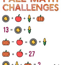 Are Your Kids Ready for 5 Days of Fall Math Challenges? — Mashup Math [ 1437 x 1000 Pixel ]