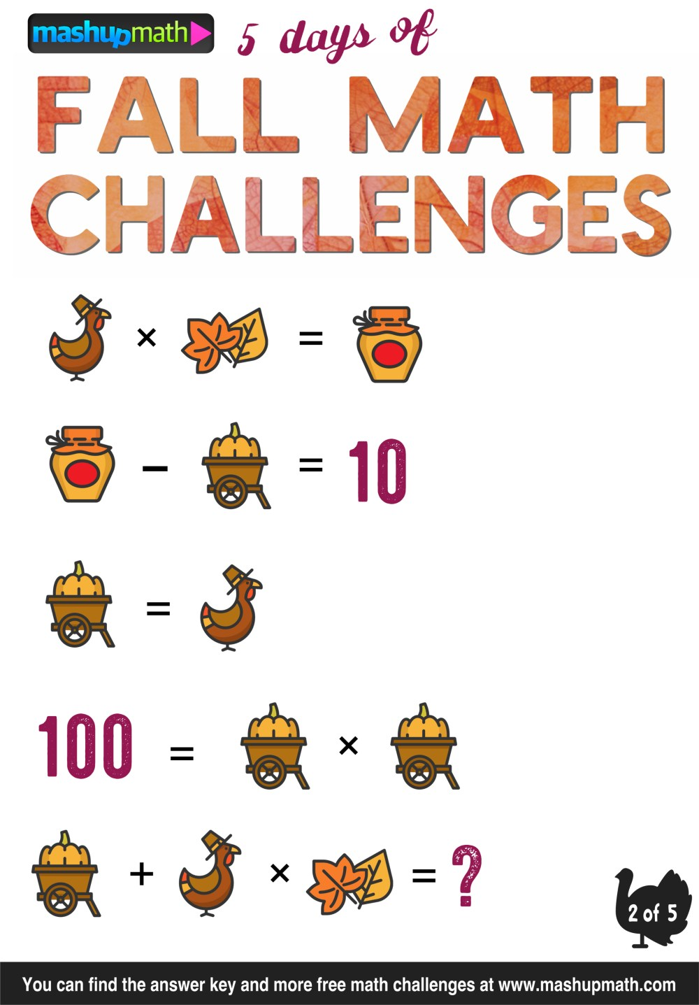 medium resolution of Are Your Kids Ready for 5 Days of Fall Math Challenges? — Mashup Math