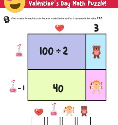 Your Kids Will Love These Valentine's Day Math Activities — Mashup Math [ 1250 x 1000 Pixel ]