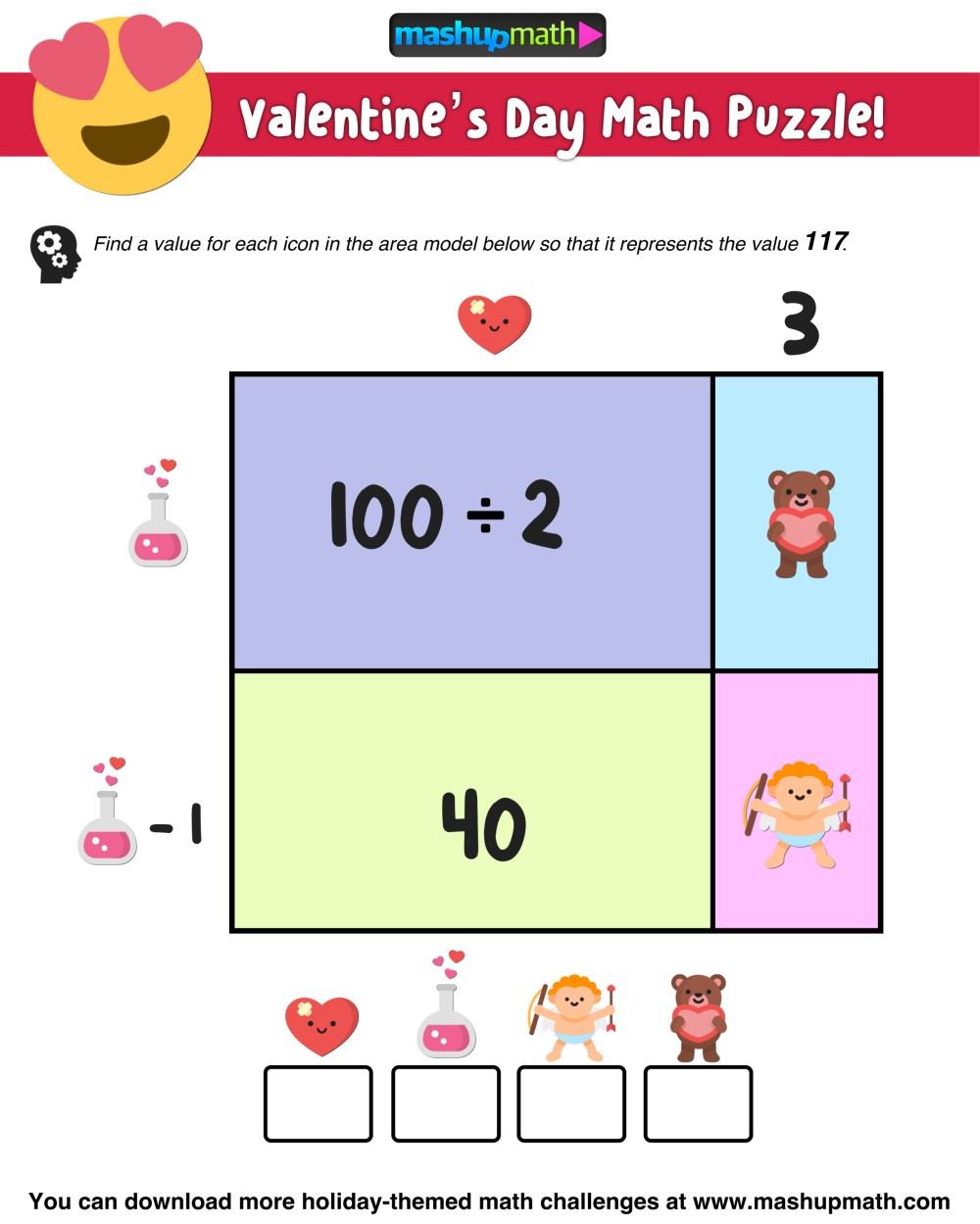 medium resolution of Your Kids Will Love These Valentine's Day Math Activities — Mashup Math