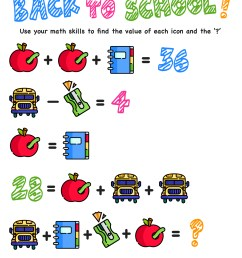 Here Are The Only Free Back to School Math Worksheets You'll Ever Need —  Mashup Math [ 1294 x 1000 Pixel ]