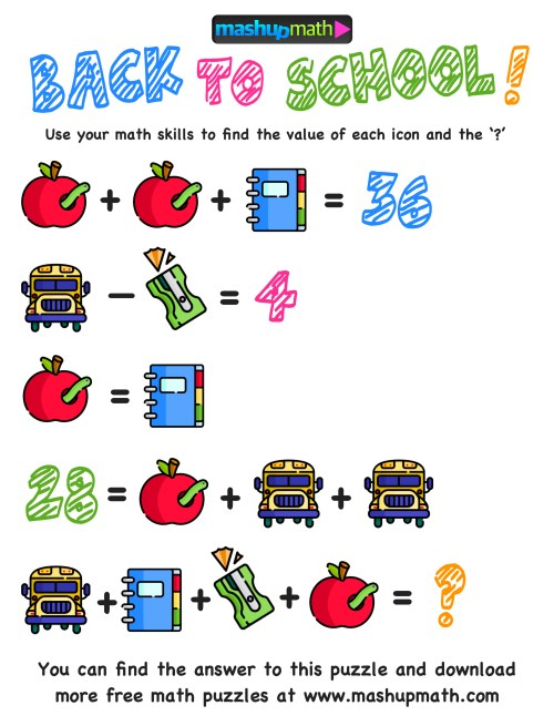 small resolution of Here Are The Only Free Back to School Math Worksheets You'll Ever Need —  Mashup Math