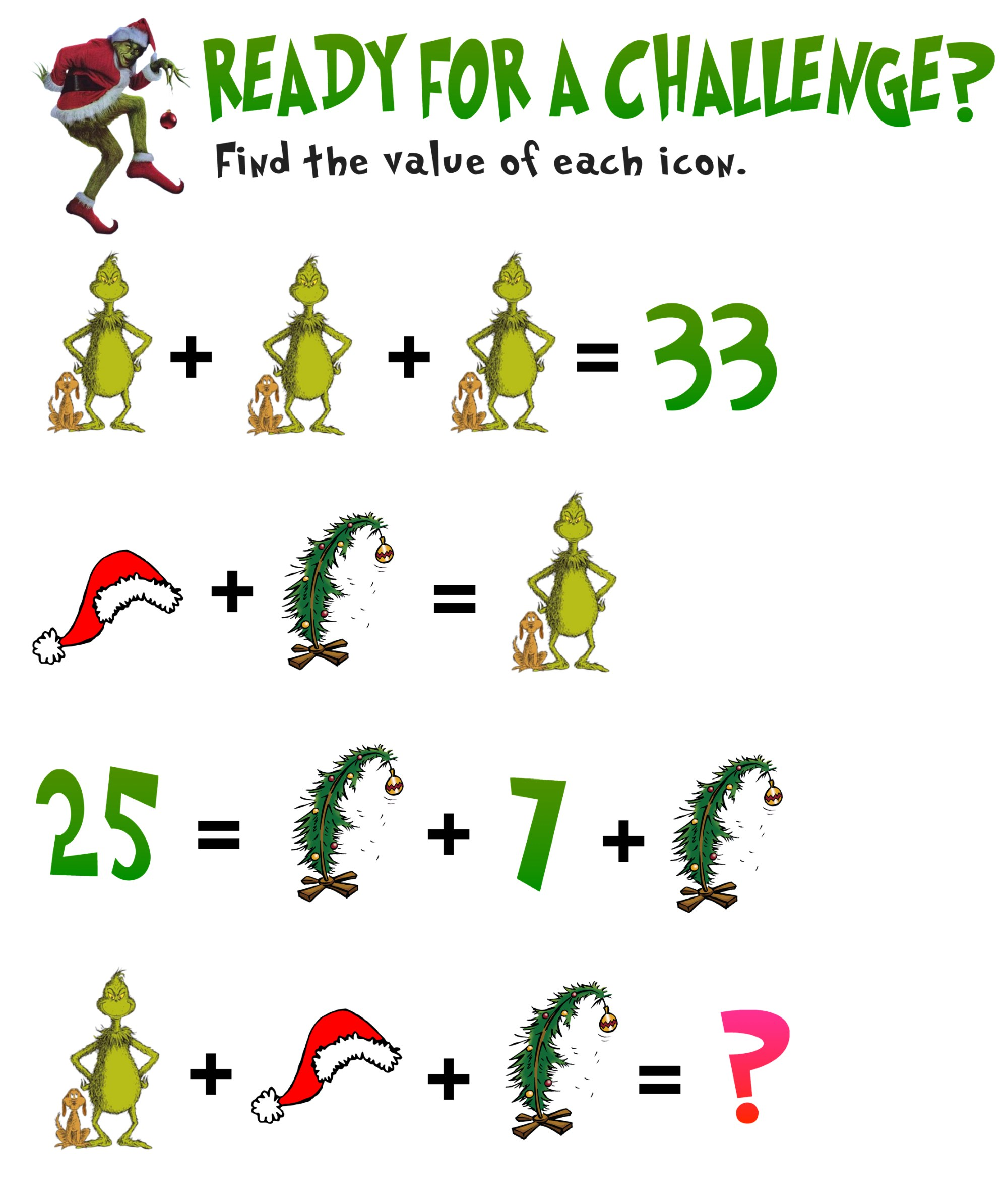 hight resolution of 5 Awesome Christmas Math Activities for 5th Grade — Mashup Math